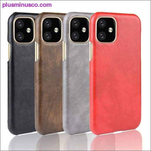 luxury Leather Case For iPhone 11 Pro Max ShockProof Hard Back Cover Case For iPhone 11 Pro 2019 New - Plus Minus Co.