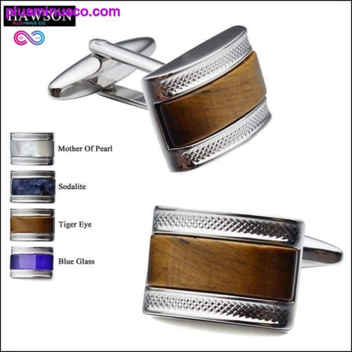 Luxury Mother of Pearl Cuff Links - High End Gifts for - Plus Minus Co.