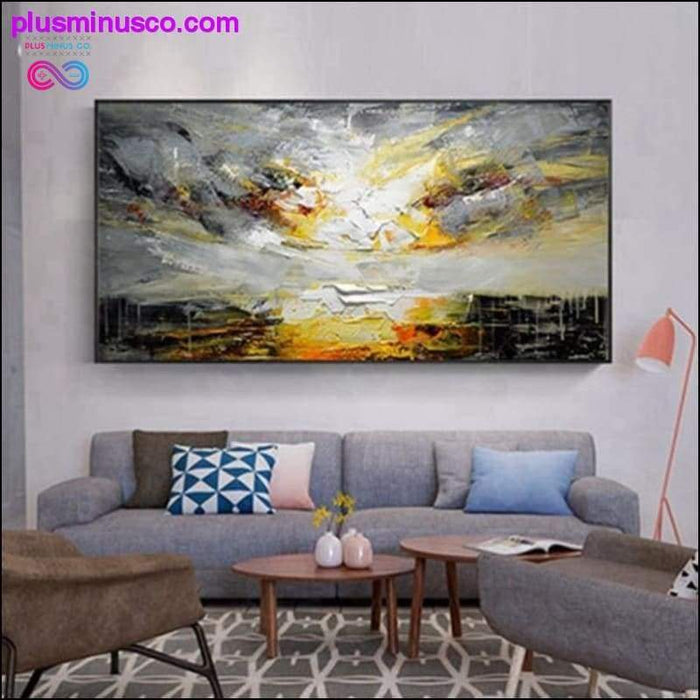 Modern Style Landscape Abstract Handmade Oil Painting Wall - Plus Minus Co.