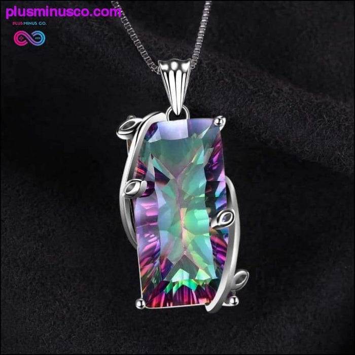 Natural Fire Rainbow Mystic 16ct Topaz Каралі Solid 925 - Plus Minus Co.