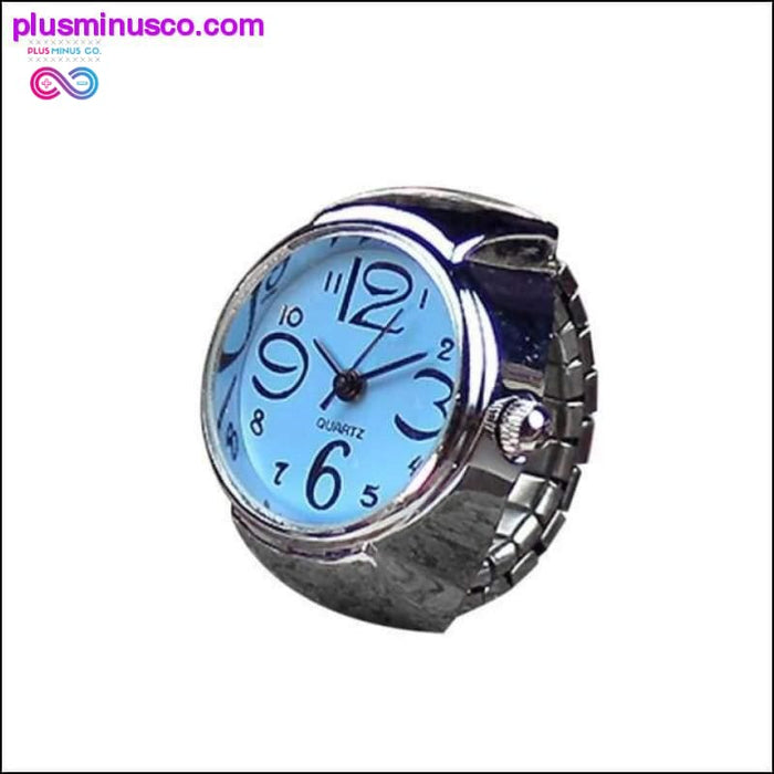 Hot Style Creative Steel Cool Elastic Analog Ring With - Plus Minus Co.