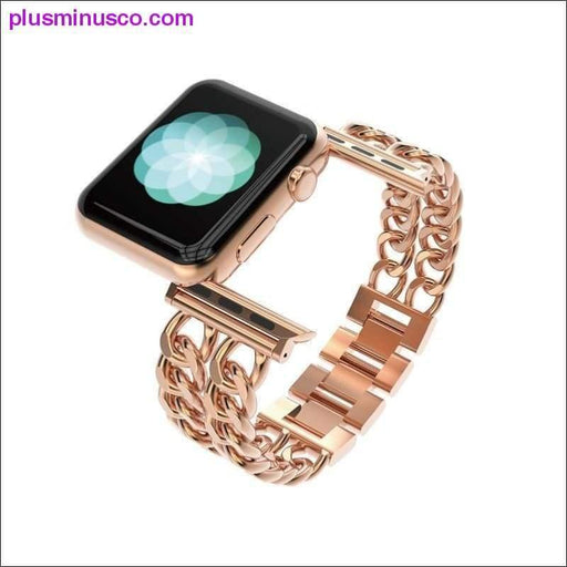 Rose Gold Stainless Steel Luxury Apple iWatch Bands Series 38mm and 42mm - Plus Minus Co.