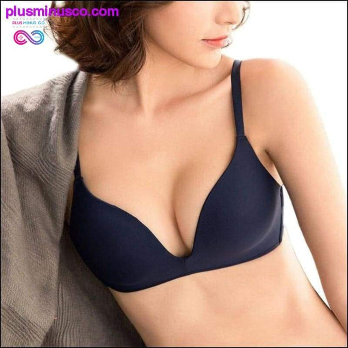 Seamless Bras for Women Push Up No Wire A B Cup Underwear - Plus Minus Co.