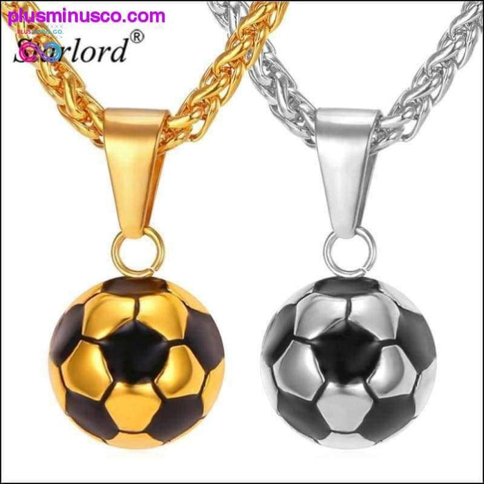 Starlord Football Soccer Pendant Necklaces Ball Enamel - Plus Minus Co.
