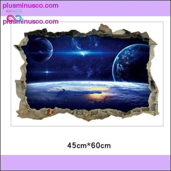 Creative 3D Universe Galaxy Wall Stickers For Ceiling Roof - Plus Minus Co.