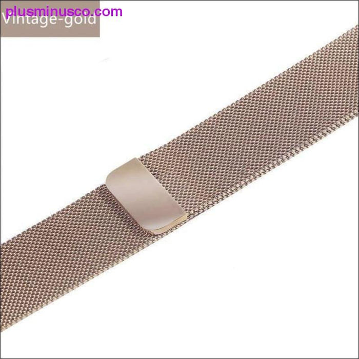 Milanese Loop Band für Apple Watch Armband iWatch 3 Band 42mm 38 mm Edelstahlarmband Armband - Plus Minus Co.