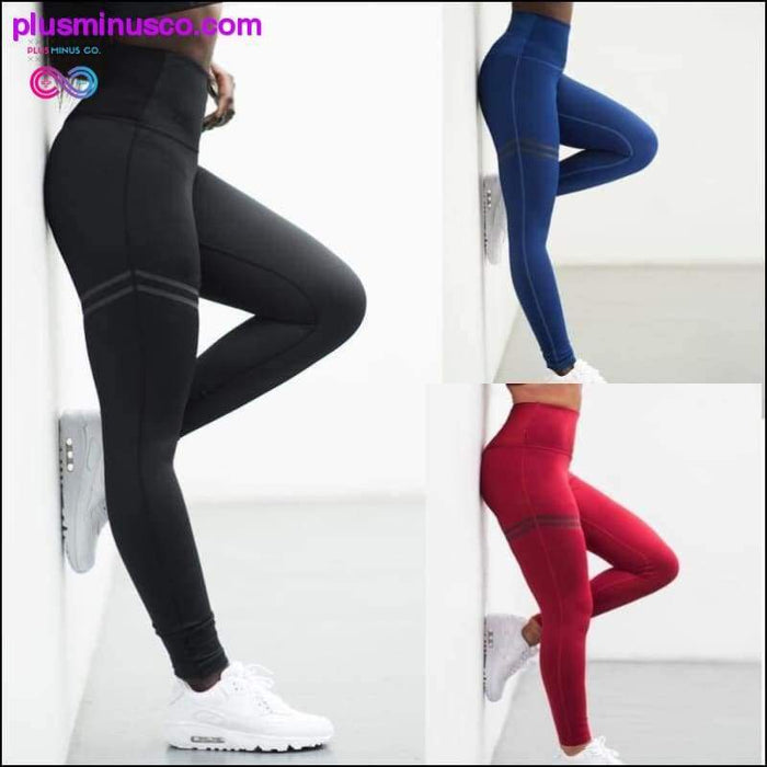 Femmes Running Collants Skinny Compression Joggers Gym Pants - Plus Minus Co.