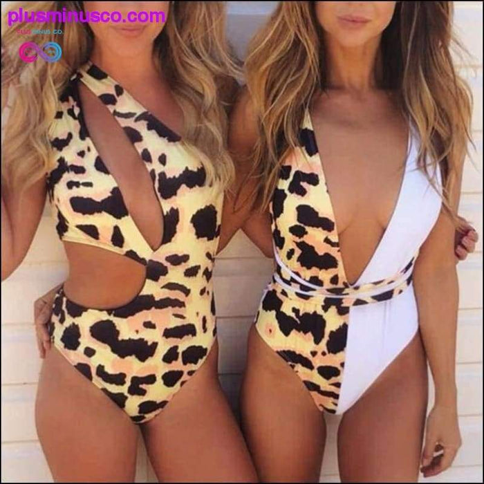 Women's Summer one piece suits Leopard Printed Woman sexy - Plus Minus Co.
