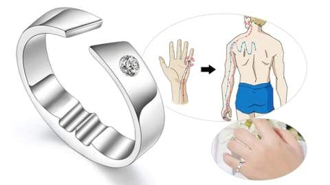 Snoring Device Anti Ring Magnetic Therapy Acupressure Treatment