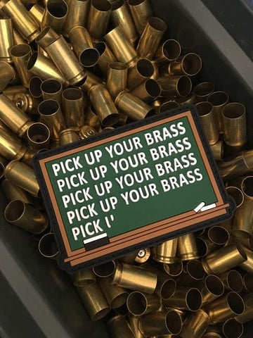 pick up your brass velco pvc morale patch