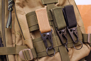 Tactical MOLLE carabiner with Key Ring