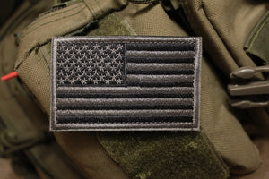 American Flag: Black/Grey Morale Patch