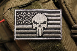 American Flag: Punisher / Black Morale Patch