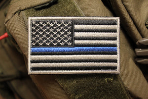 American Flag: Thin Blue Line Morale Patch