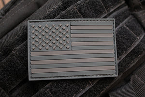 American Flag Dark Morale Patch (PVC)