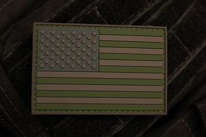 American Flag Forest Morale Patch (PVC)
