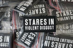 Stares In Violent Disgust Patch