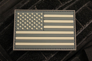 American Flag Light Morale Patch (PVC)