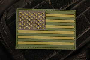 American Flag Multicam Morale Patch (PVC)