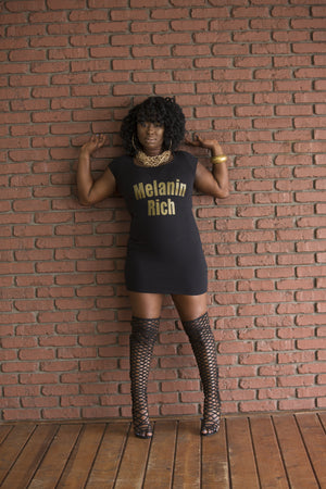 Melanin Rich IdeniTee Shirt Dress