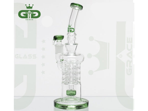 Grace Glass | OG Series | Recycler Green Glass Water Bong