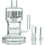 "UPC 8"" Double Chamber Honeycomb to Showerhead Glass Dab Rig"