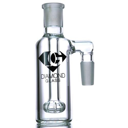 Diamond Glass - 14mm Ash Catcher With Circ Percolator