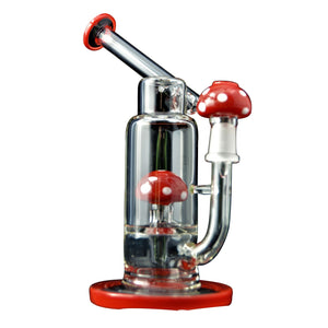 8'' Super Mario Mushroom Percolator Glass Dab Rig