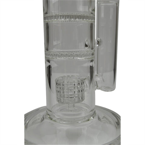 AMG 12 inch Beaker Base Skull and Leaf Decal Bong