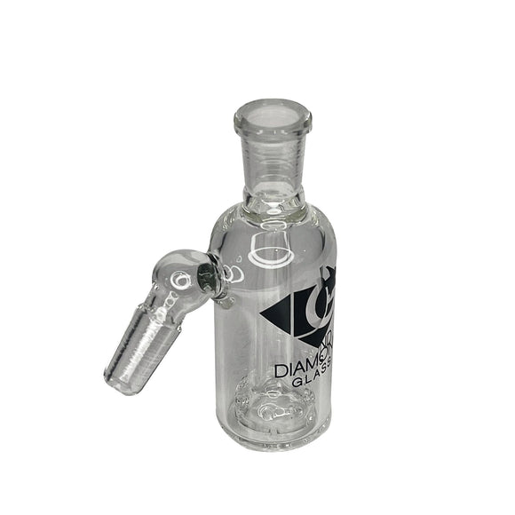 Diamond Glass - 19mm & 45 Degree Ash Catcher With Cheese Percolator