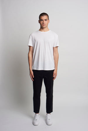 WHITE RECYCLED SLOUCH TEE