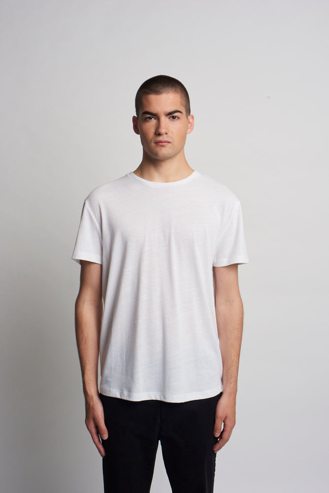 WHITE RECYCLED TEE SHIRT