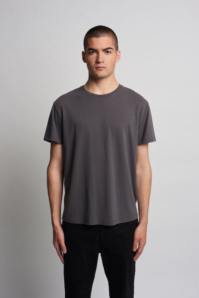 ANTHRACITE RECYCLED TEE SHIRT