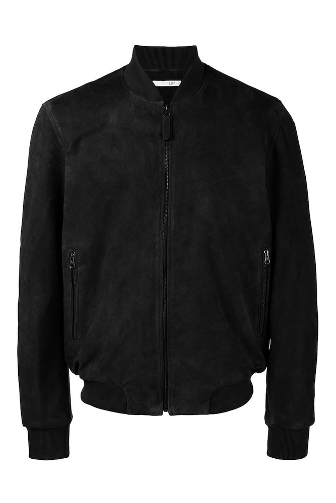 BLACK SUEDE BOMBER (SIZE 52)