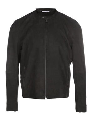 ANTHRACITE SUEDE JACKET