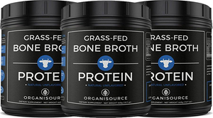 Grass-Fed Bone Broth Protein Powder (Pack of 3)