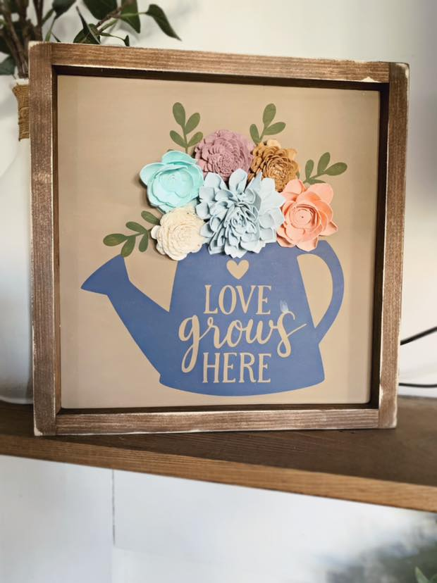 TAKE HOME KIT 12x12 3D wood flower sign
