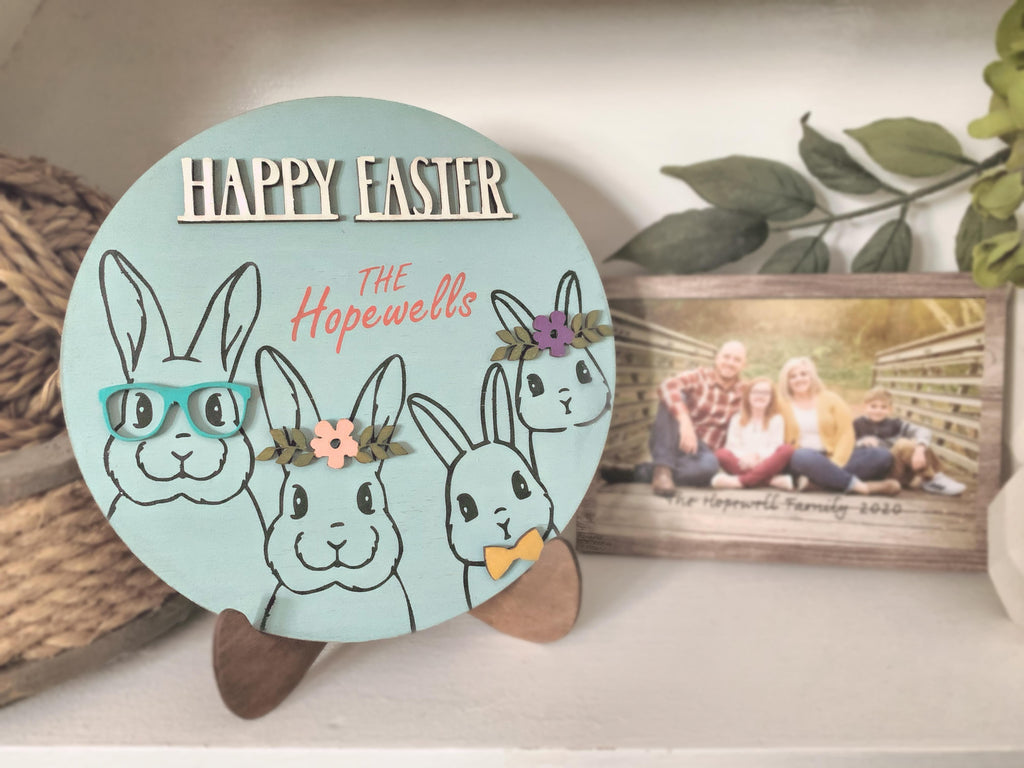 Circle 3D Easter family bunnies take home kit