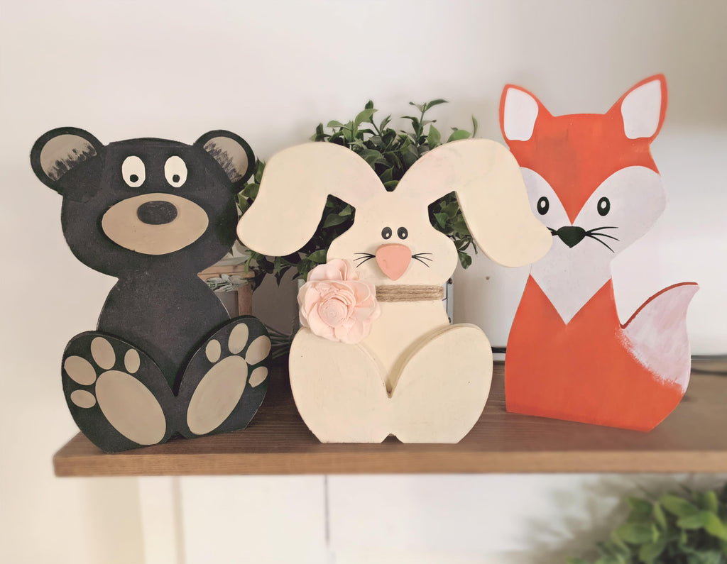 Stand alone Bunny, Bear or Fox take home kit
