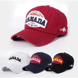 Letter Design baseball caps vintage 2017 CANADA Embroidered Party hat Cotton & acrylic 4 colors