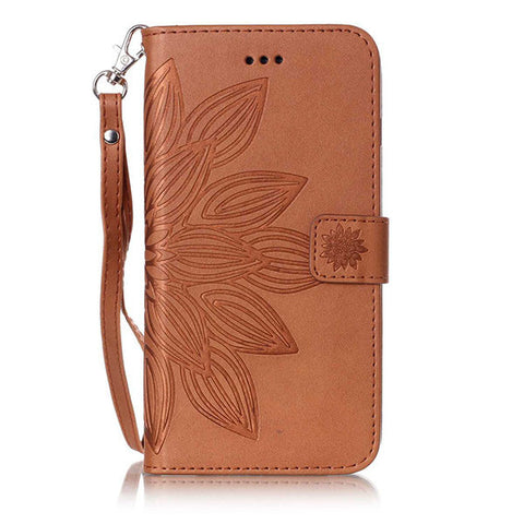 For Apple iphone 7 7Plus Case Luxury Retro Embossed Leather Flip Multi-function Removable Wallet Card Holder Stand Money Bags