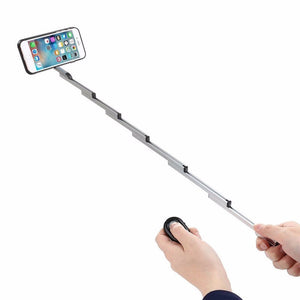 3 in 1 Selfie Stick w/ Aluminum Cover For Iphone 7 6s Plus Foldable selfie With Case & Bluetooth Remote Shutter For Iphone 6S
