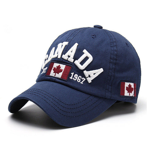 New Fashion Golf Cap For Womens Mens Adjustable Canada Flag Letter Snapback Baseball Top Cap Cotton Hip Hop Bboy Sport Hat Gift