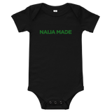 Naija Made Regular - Baby Onesie - Green Ink