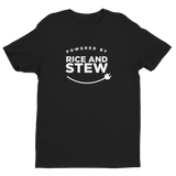 Powered by Rice and Stew Unisex Tee