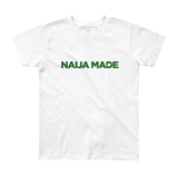 Naija Made Regular Youth Tee - Green Ink