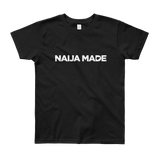 Naija Made Regular Youth Tee - White Ink
