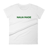 Naija Made Regular Women's Tee - Green Ink