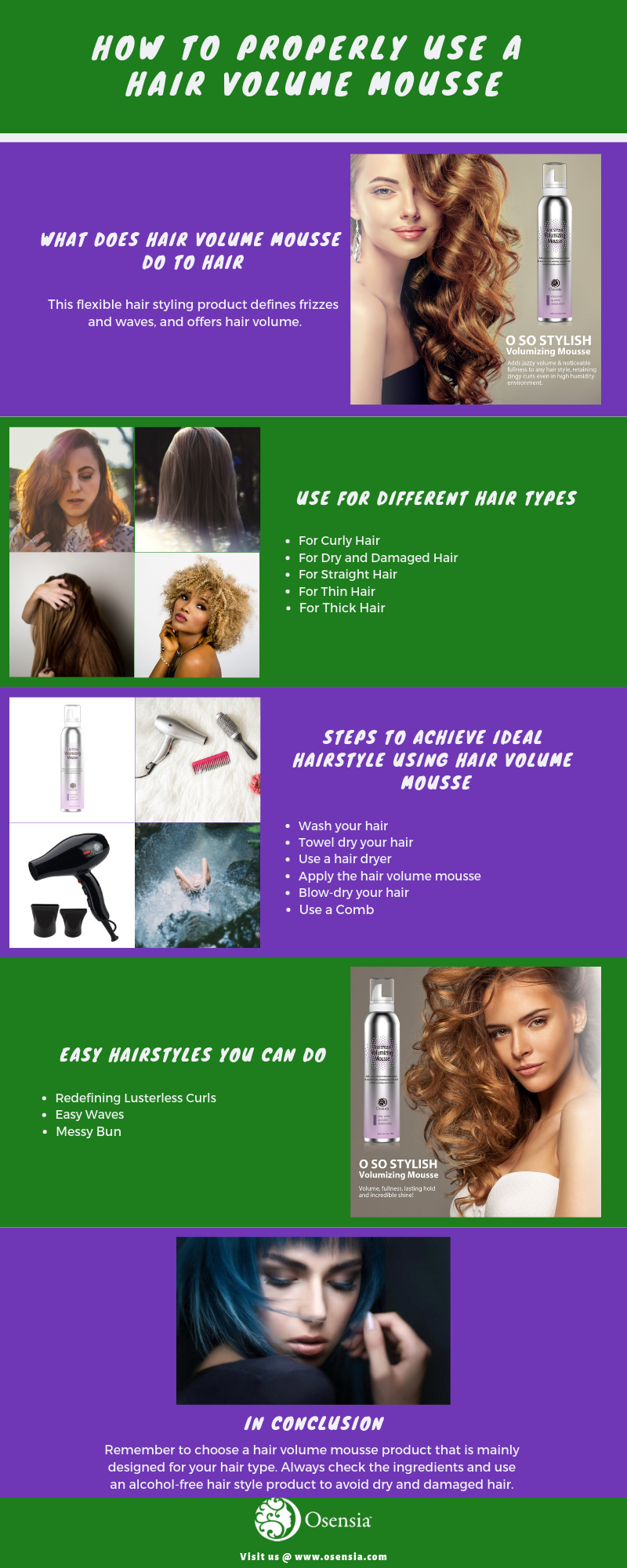 How To Properly Use A Hair Volume Mousse Osensia