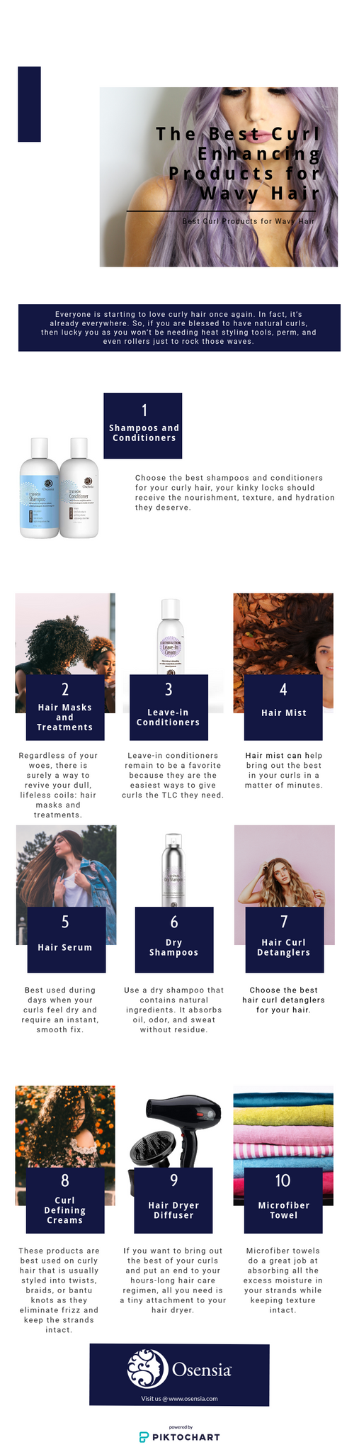 Best Curl Enhancing Products Wavy Hair Infographics